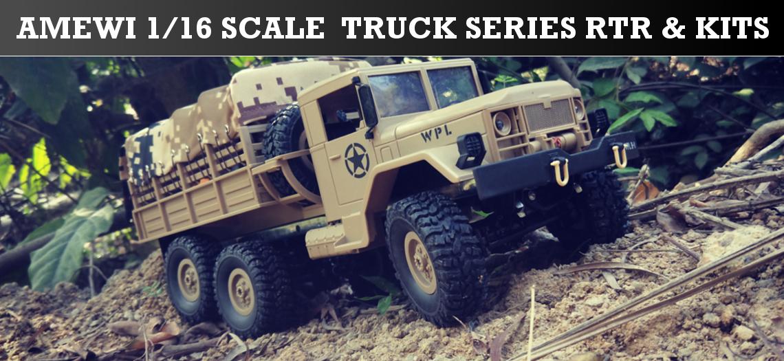 Amewi 1/16 Scale Truck Series RTR und Kits