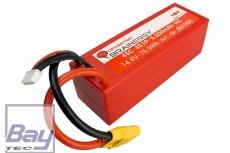 4S-LiPo-Akku im Hardcase mit 5200 mAh, 45C und Goldkontakt kompatibel mit Deans Ultra Plug (T-Plug)