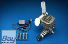 DLE55RA 55ccm Benzin Motor mit Heckvergaser incl. Elektronischer Zündung - Heckauslass