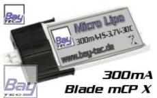 LiPo Akku 3,7V 300mAh 30C 7,5g Blade mCP X