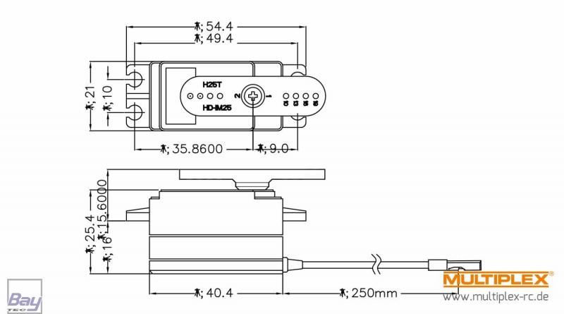 1-00070 Multiplex Hitec RC Servo D777MG