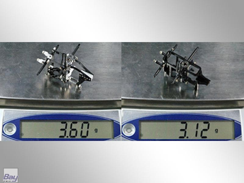 BLADE MCPX Aluminum/Carbon Fiber/Delrin Frame 3 Lager