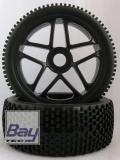Buggy Räder 1:8 schwarz 112mmx43mm Aufnahme 17mm Innensechskannt
