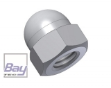 Hutmutter DIN 1587 - M3 - Nylon natur / Polyamid natur 10 stk.