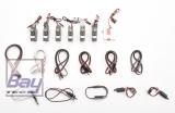 JSM Mini Xcalibur Quartz Servos und Kabel Set