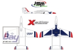 JSM Xcalibur 1855 mm (Thunderbirds Scheme) - Super Combo
