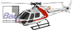 AS350 HELICOPTER RTF 244mm Futaba kompatibel