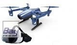 Udi U28WIFI Peregrine 3D RTF – Rückenflug mit HD Kamera, 2.4GHz Handsender & Smartphone APP incl. UVR-1 Fancy VR FPV Brille