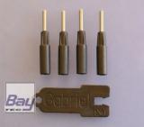 CFK Kugelgelenkadapter für Carbonrohr 3mm M2 (VE 4Stk. + Schlüssel)