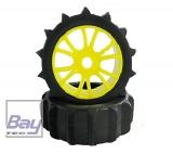 Buggy Räder 1:8 gelb 112mmx43mm 2 Stk Schaufelprofil