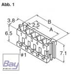 Balancer Buchse EH für 14,8V Akkus 5 Pol