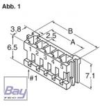 Balancer Buchse EH für 7,4V Akkus 3 Pol
