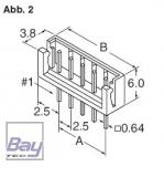 Balancer gegenstück (Stecker) EH für 7,4V Akkus 3 Pol