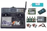 FUTABA F14 Komplettset 4 2,4GHz 2Prop MS16