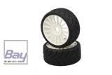 Jamara 50905 - Reifen mit Felgen 1:8 16-Sp Profil VE2, weiß