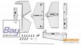 Multiplex Leitwerkssatz (Ersatz) RockStar