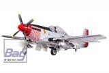 FMS Big Scale P-51 Shangrila V6 silber/schwarz/rot PNP 1440mm Set ohne Akku/RC