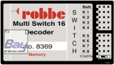 Robbe Multi-Switch 16 Decoder Memory - F-SERIE