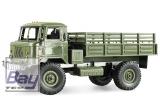 GAZ-66 LKW 4WD 1:16 Bausatz grün - incl. Motor und Lenkservo