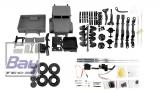 U.S. Militär Truck 4WD 1:16 Bausatz, grau - incl. Motor und Lenkservo
