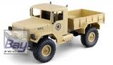 U.S. Militär Truck 4WD 1:16 Bausatz, sandfarben - incl. Motor und Lenkservo