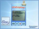 UniDisplay+ - Anzeigedisplay für unseren UniLog 1+2, UniSens-E, GPS-Logger 1+2, LiPoWatch und InfoSwitch. Alle Messwerte können live angezeigt und Parameter direkt eingestellt werden.
