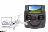 X4 FPV Desire Quadrocopter - RTF-Drohne mit HD-Kamera, GPS, Follow- Me, Akku, Ladegerät und Fernsteuerung mit integriertem Farbmonitor