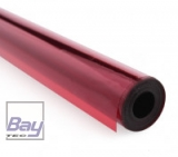 Bay-Tec Bügel-Folie - Transparent-Rot - Breite 64cm - je m