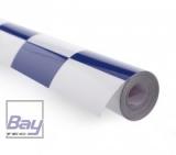 Bay-Tec Bügel-Folie - Blau-Weiss-Karriert - Breite 64cm - je m