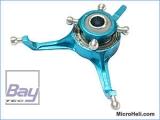 CNC ALU-Taumelscheibe, blau, Blade MSR