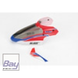 Blade mCP X Complete Red Canopy with Vertical Fin
