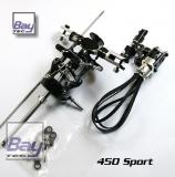 Bay-Tec 450 Sport Alu Rotorkopf incl. Alu Heck