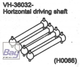 VH-36032 Horizontal driving shaft 1 stk.