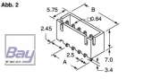 Balancer gegenstück (Stecker) XH für 7,4V Akkus 3 Pol