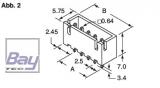 Balancer gegenstück (Stecker) XH für 11,1V Akkus 4 Pol