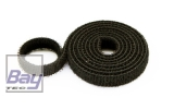 15mm Klettb / Velcro beidseitig verbindend 1m SCHWARZ