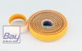 15mm Klettb / Velcro beidseitig verbindend 1m Gelb