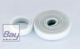 15mm Klettb / Velcro beidseitig verbindend 1m WEISS