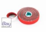 15mm Klettb / Velcro beidseitig verbindend 1m ROT