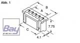 Balancer Buchse XH für 11,1V Akkus 4 Pol