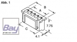 Balancer Buchse XH für 14,8V Akkus 5 Pol