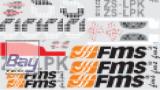 FMS Big Scale Pitts weiss Dekorsatz