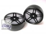 Drift Räder 1:10 Schwarz 63mmx26mm 2 Stk 12mm Innensechskant