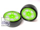 Drift Räder 1:10 Grün 63mmx26mm 2 Stk 12mm Innensechskant