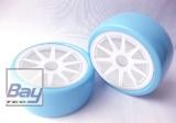 Drift Räder 1:10 Blau Weiß 63mmx26mm 2 Stk 12mm Innensechskant