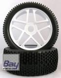 Buggy Räder 1:8 weiß 112mmx43mm Aufnahme 17mm Innensechskannt