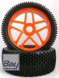 Buggy Räder 1:8 orange x43m112mmm Aufnahme 17mm Innensechskannt