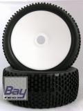 Buggy Räder 1:8 Dish weiß 112mmx43mm Aufnahme 17mm Innensechskannt