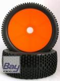 Buggy Räder 1:8 Dish orange 112mmx43mm Aufnahme 17mm Innensechskannt