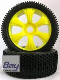 Buggy Räder 1:8 gelb 112mmx43mm Aufnahme 17mm Innensechskannt